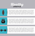 healthy lifestyle design vector image vector image