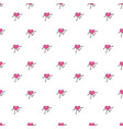 heart seamless pattern background vector image vector image