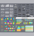 infographics and diagrams set vector image