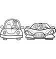 malicious driver cartoon coloring page vector image