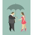 man and woman under an umbrella vector image