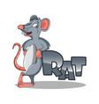 modern rat cartoon mascot logo vector image