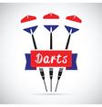netherlands darts vector image vector image