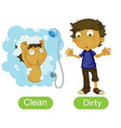 Opposite words with clean and dirty