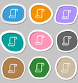 paper scroll icon symbols Multicolored paper vector image