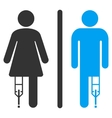 Patient WC Persons Flat Icon vector image