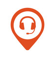 pin podcast place icon headset headphones vector image vector image