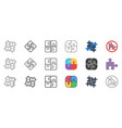 puzzle icons set vector image