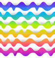 rainbow color wave seamless texture vector image vector image