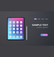 realistic tablet pc mobile application icons ui vector image vector image