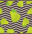 seamless pattern with pears and leaves vector image vector image