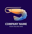 shrimp logo gradient vector image