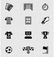 soccer icon set on checkered vector image vector image