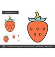 Strawberry line icon vector image vector image