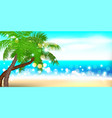 summer time seashore palm landscape vector image