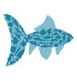 symbol fish vector image