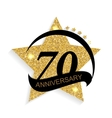 Template Logo 70 Anniversary vector image vector image