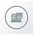 text content icon line symbol premium quality vector image