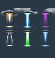 ufo spotlight cosmic transport ambient alien vector image vector image