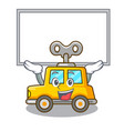 up board character clockwork car for toy children vector image