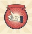 vintage badge sticker vector image vector image