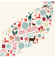 Vintage Merrey Christmas background vector image vector image