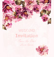 vintage watercolor roses card beauty vector image vector image