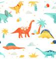watercolor dinosaur baby pattern vector image vector image