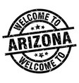 welcome to arizona black stamp vector image vector image