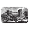 westminster abbey architecture vintage engraving vector image vector image