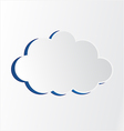 white Cloud vector image vector image