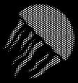 white pixel jellyfish icon vector image
