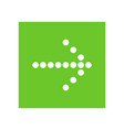white right next arrow in green square vector image vector image