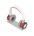 wireless headphones isometric 3d icon vector image vector image