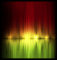 yellow-red wide wave abstract equalizer vector image vector image