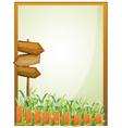 Arrow boards inside an empty frame vector image