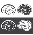 set of simple icons with brain vector image