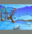 cartoon winter background for a game art vector image