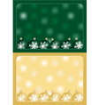 green and gold christmas greetings vector image