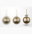 2018 new year christmas balls vector image vector image