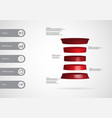 3d infographic template with deformed cylinder vector image