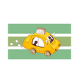 A running taxi vector image vector image