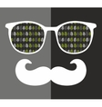 Abstract portrait of man in sunglasses with vector image vector image
