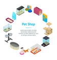 accessories for domestic pets banner card circle vector image vector image