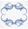 background a notebook with a patterned frame vector image vector image