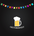 Beer Festival Glass of beer on a chalkboard vector image vector image