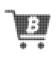 bitcoin webshop halftone dotted icon vector image vector image