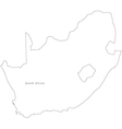 Black White South Africa Outline Map