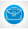 Blue round icon for briefcase vector image