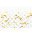 celebration template with serpentine and confetti vector image